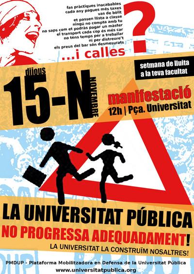 manifestació contra Bolonya