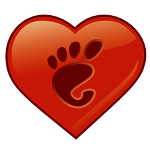 logotip del GNOME Love
